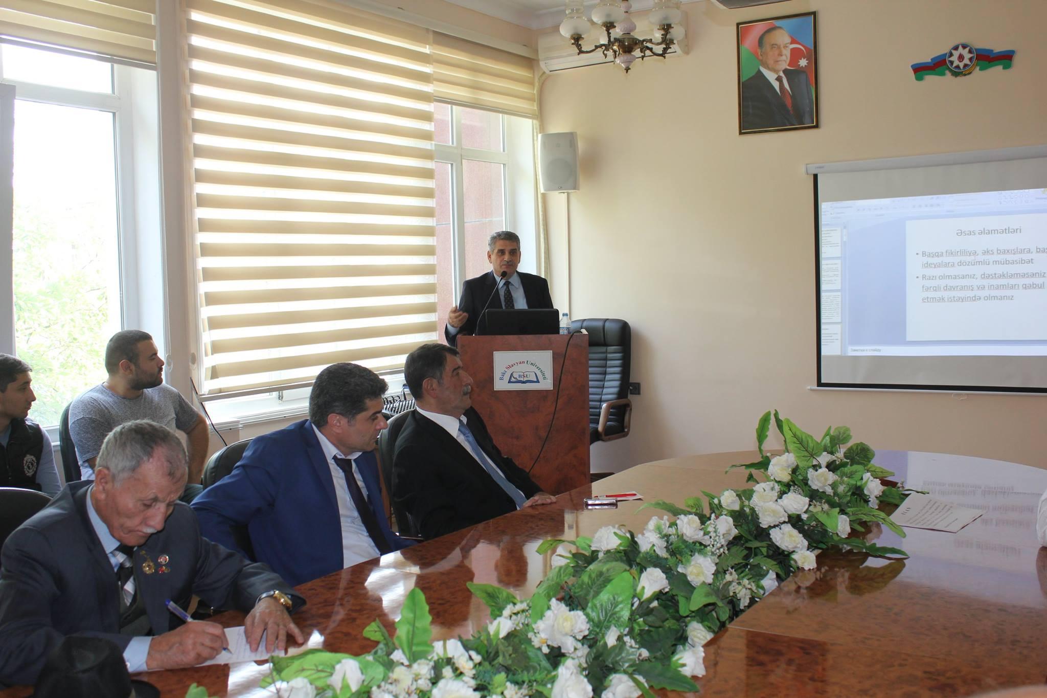 BSU-da islamda tolerantlıq mövzusunda seminar keçirilib